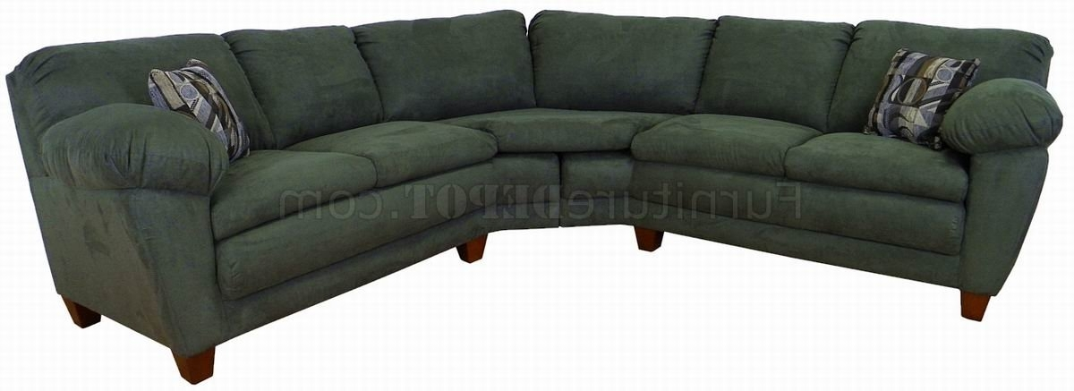 Latest Green Sectional Sofas Inside Sage Green Fabric Modern Sectional Sofa W/wooden Legs (View 5 of 10)