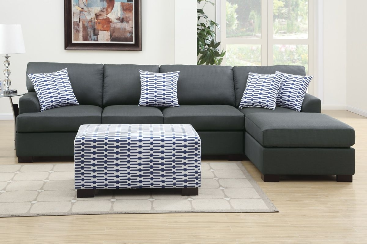 Latest Grey Chaise Sectionals With Regard To Cool Dark Grey Sectional Couches , Best Dark Grey Sectional (View 10 of 15)