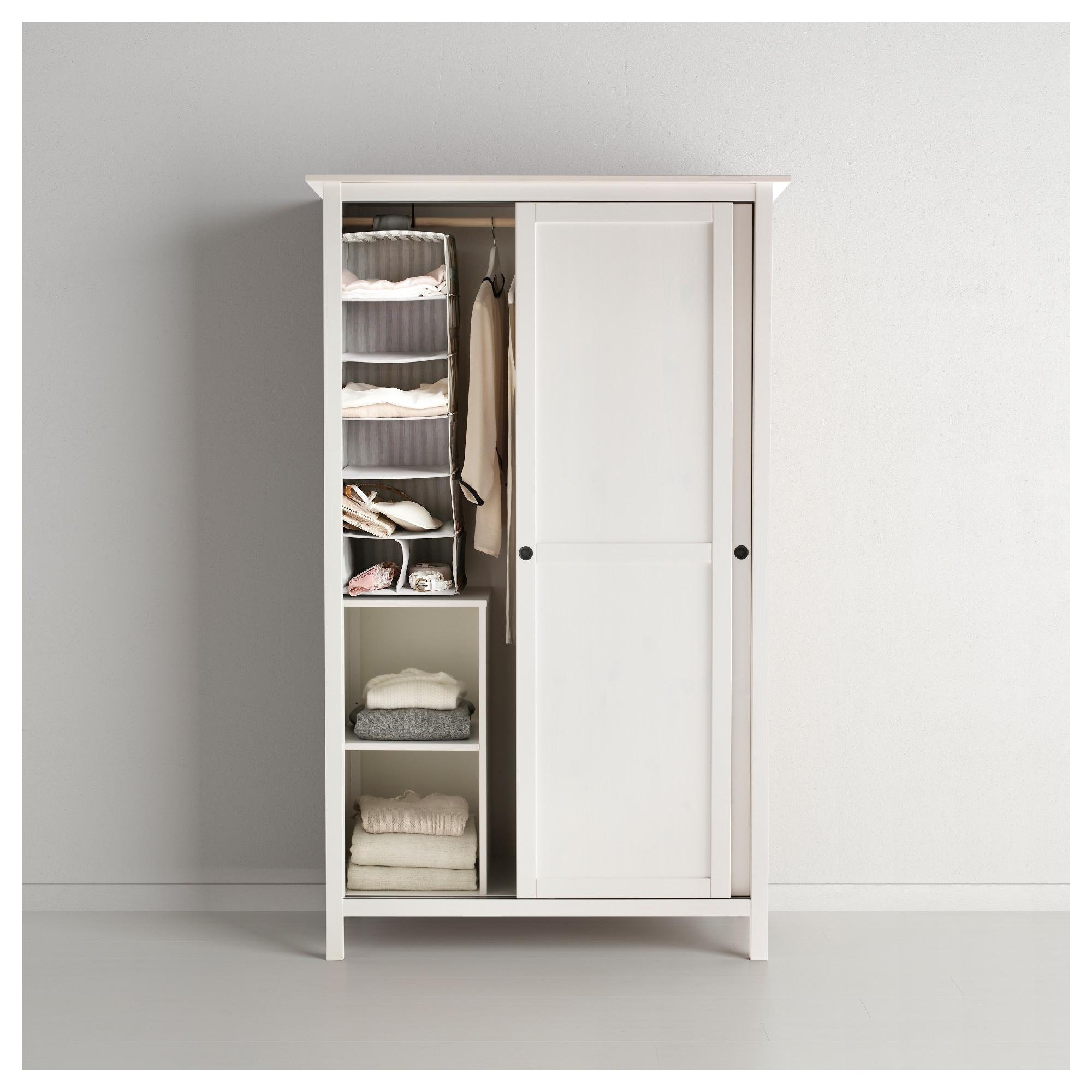 Latest Hemnes Wardrobe With 2 Sliding Doors – Yellow – Ikea With Regard To Wardrobes With 2 Sliding Doors (View 8 of 15)