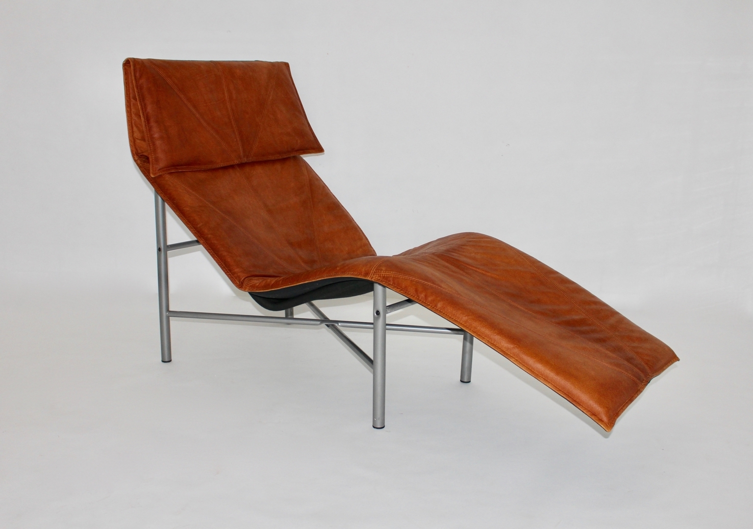 Latest Leather Chaise Lounges Pertaining To Swedish Cognac Leather Chaise Loungetord Bjorklund, 1970s For (View 9 of 15)