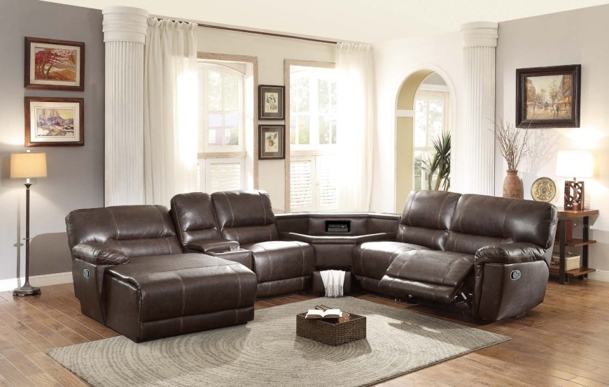 Latest Leather Motion Sectional Sofas In Top 10 Best Reclining Sofas (2018) (View 8 of 10)