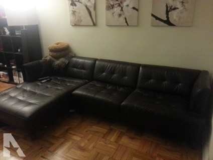 Latest Macys Leather Sectional Sofas Intended For Obo Macy's Alessia Chocolate Brown Leather Sectional Sofa / Couch (View 3 of 10)