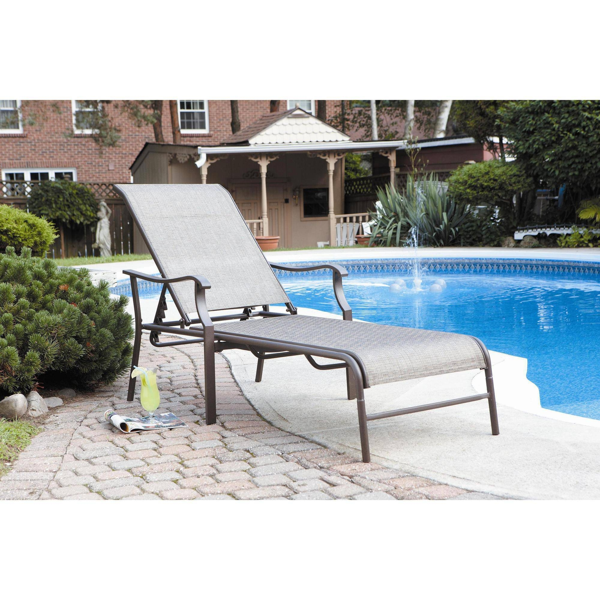 Latest Outdoor : White Outdoor Chaise Lounge Lounge Couch Sun Lounger Pertaining To Outdoor Chaise Lounge Chairs With Canopy (View 10 of 15)