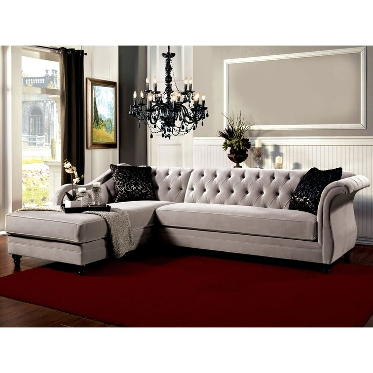 Latest Outstanding Sofa Awesome Tufted Sectional Traditional Leather Within Tufted Sectional Sofas (View 6 of 10)