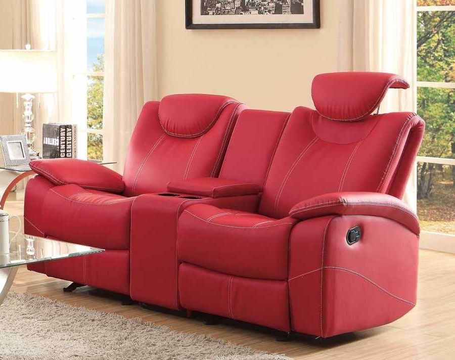 Latest Red Leather Reclining Sofas And Loveseats Pertaining To Loveseat : Funiture: Modern Reclining Sofa Ideas For Living Room (View 8 of 10)