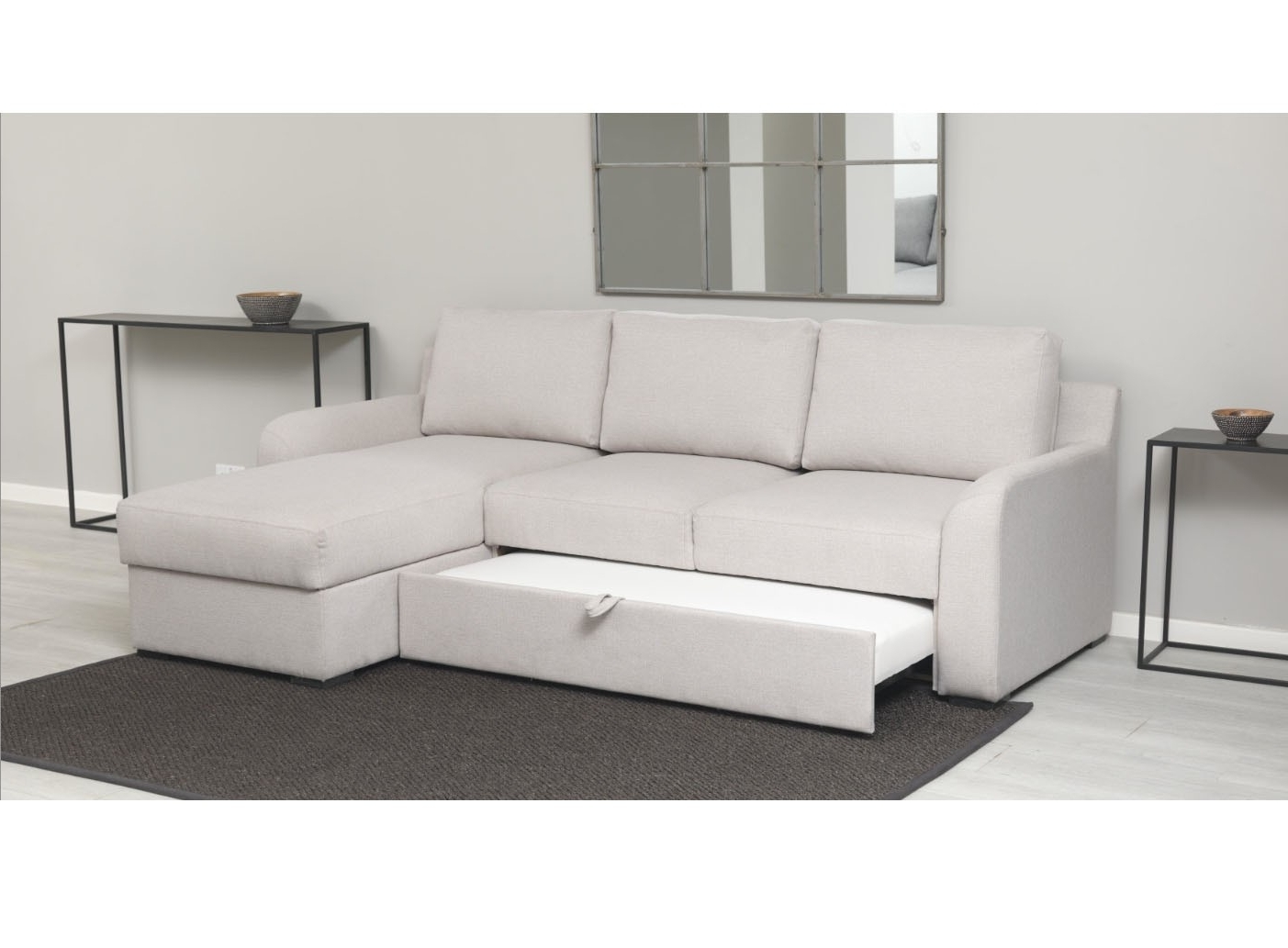 Latest Sofa Beds With Chaise With Regard To Corner Sofa Bed With Storage – Mforum (View 8 of 15)