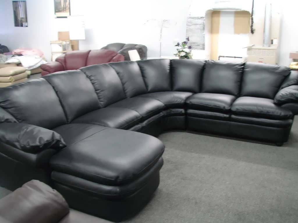 2018 Best of Black Leather Sectionals With Chaise