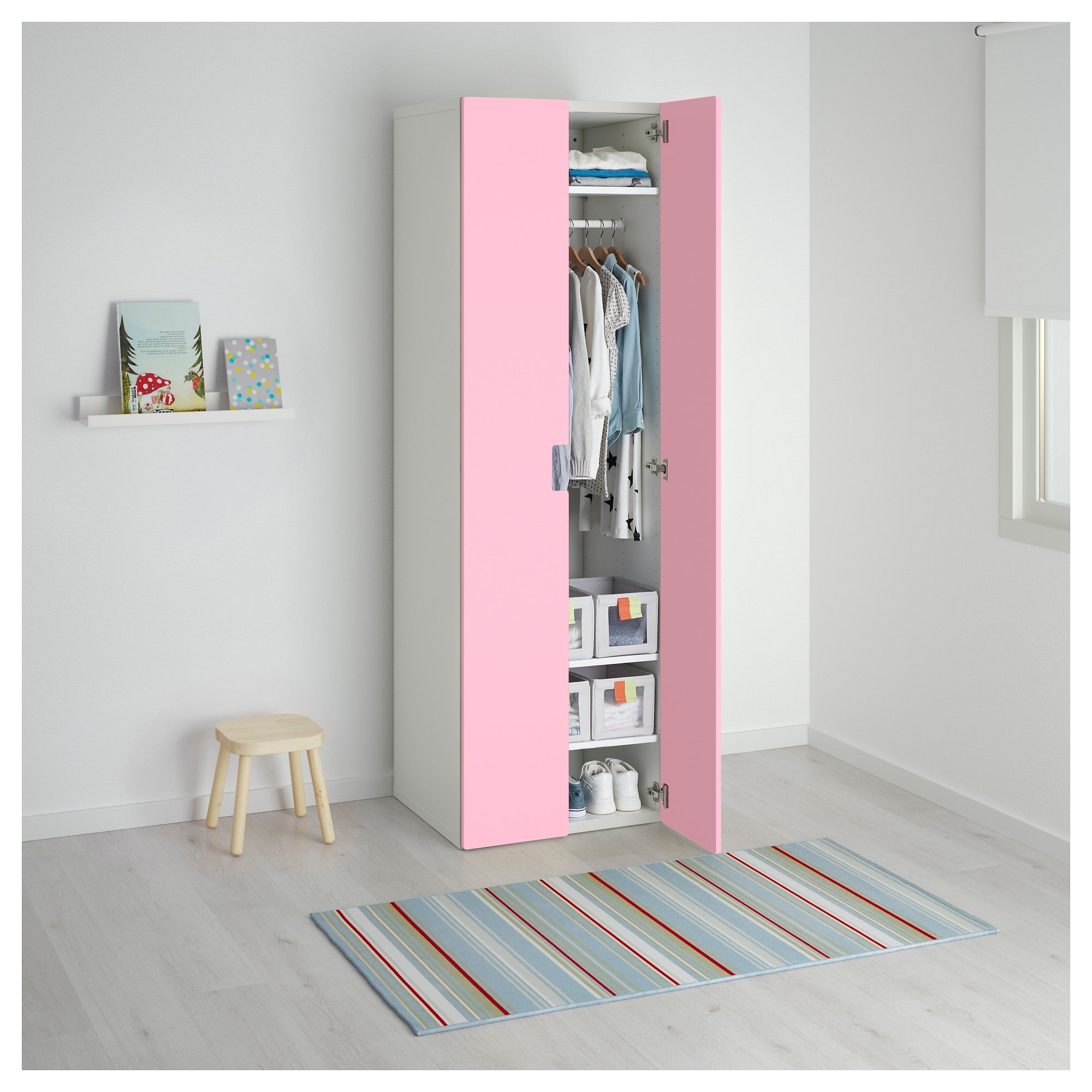 Latest Stuva Wardrobe White/pink 60X50X192 Cm – Ikea Pertaining To Girls Wardrobes (View 13 of 15)