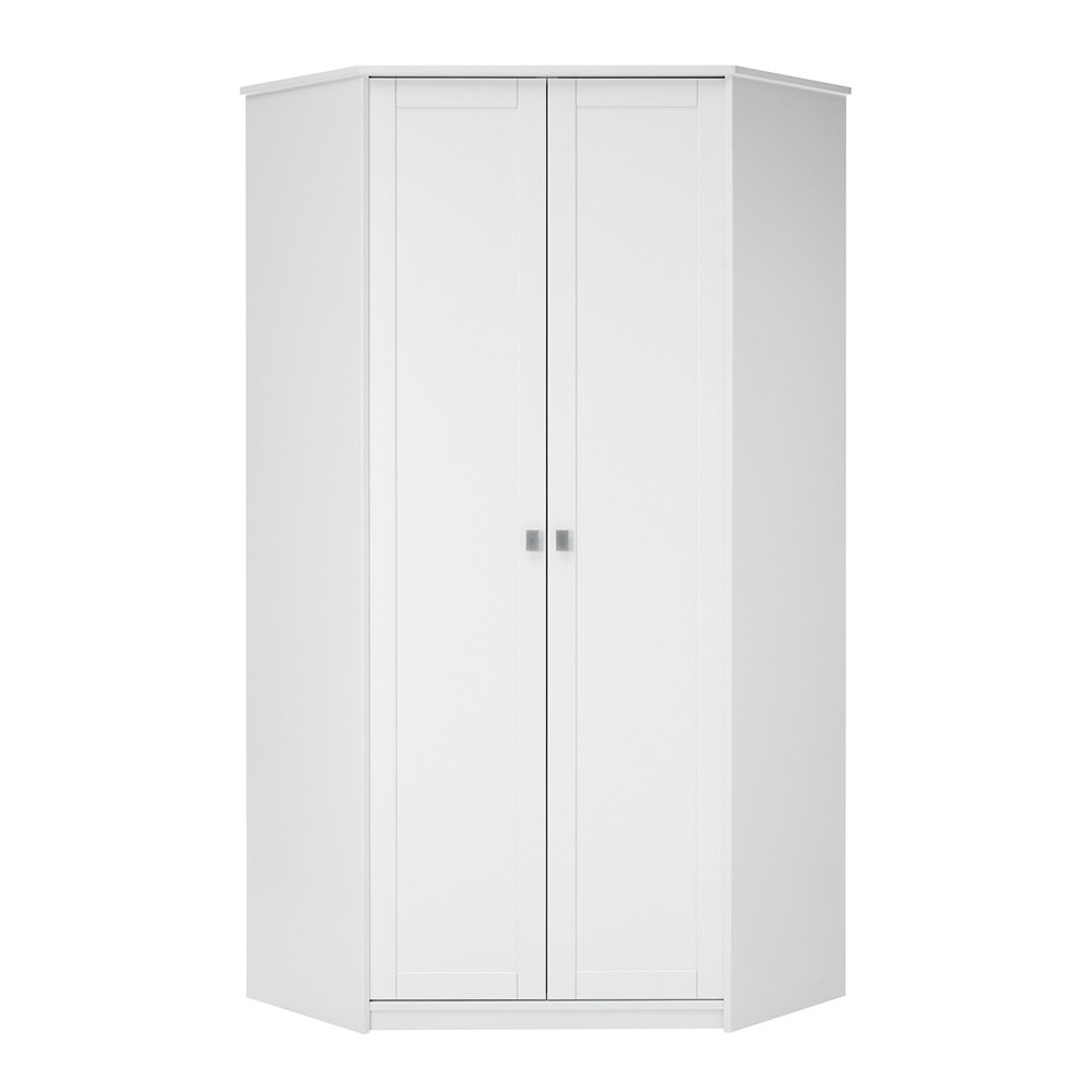 Latest White Corner Wardrobes Regarding Kids+corner+wardrobe+in+white+with+storage … (View 5 of 15)