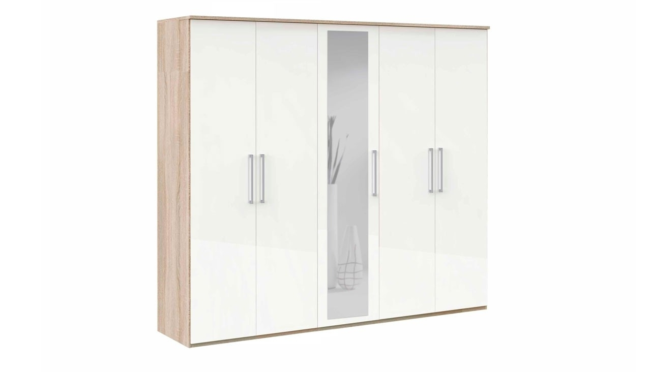 Latest White Sliding Door Wardrobe With Mirror Doors Closet 3 Drawers And With 3 Door White Wardrobes With Drawers (View 10 of 15)