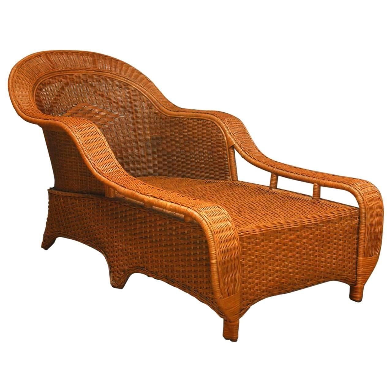 Latest Wicker Chaises Pertaining To Style Wicker Chaise Longuepalecek For Sale At 1Stdibs (View 4 of 15)