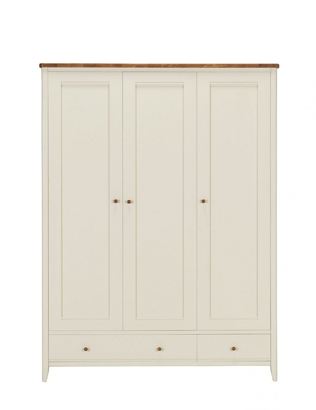 Latest Winchester Triple Wardrobe – Cream (Good Cream Triple Wardrobe With Regard To Cream Triple Wardrobes (View 9 of 15)