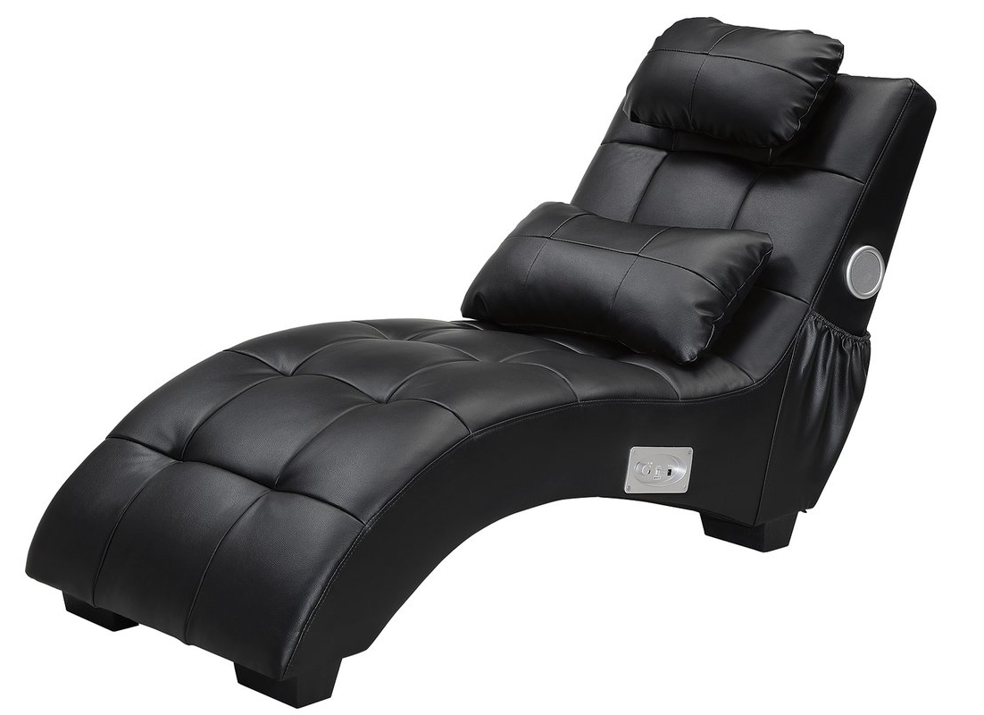 Latitude Run Khronos Leather Chaise Lounge & Reviews (View 14 of 15)