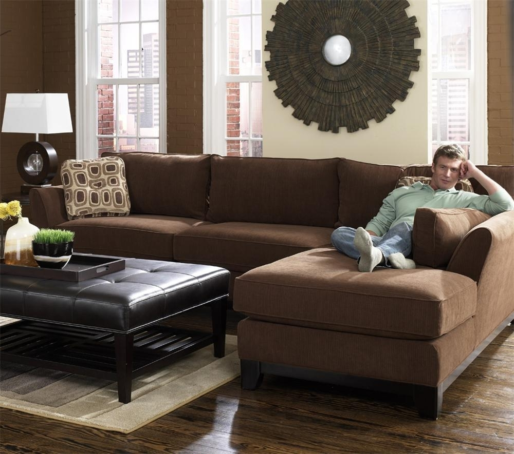 Lazy Boy Chaise Lounge Chairs With Regard To Latest Modern Brown 2 Piece Lazy Boy Sectional With Chaise (View 9 of 15)