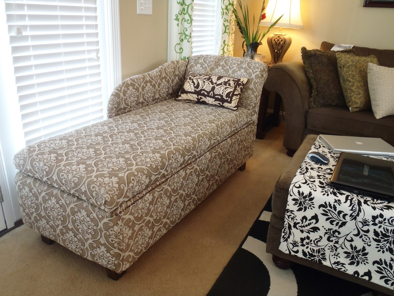 Lazy Liz On Less: Storage Chaise Lounge Within Most Popular Diy Chaise Lounge Chairs (View 8 of 15)