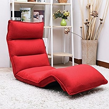Lazy Sofa Chairs In Well Known Amazon: Merax Upholstered Lazy Sofa Floor Sofa Chair Folding (View 5 of 10)