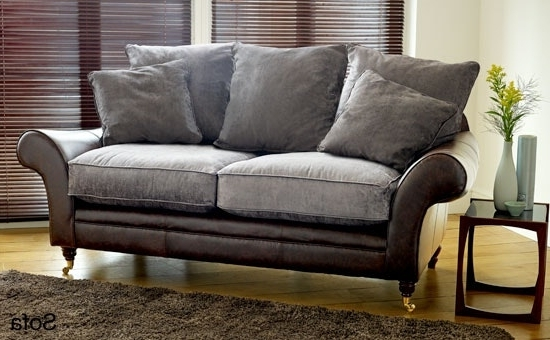Leather And Cloth Sofas In Most Recent Leather And Cloth Sofa – Mforum (View 10 of 10)