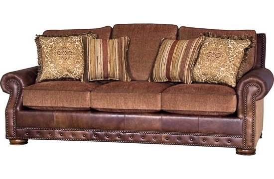 Leather And Cloth Sofas Inside Fashionable Leather And Fabric Sofa (View 4 of 10)