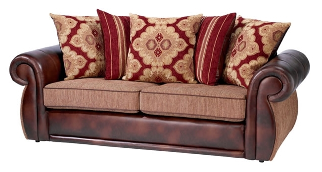 Leather And Cloth Sofas Throughout Famous Leather Sofa With Cloth Cushions – Bing Images (View 3 of 10)