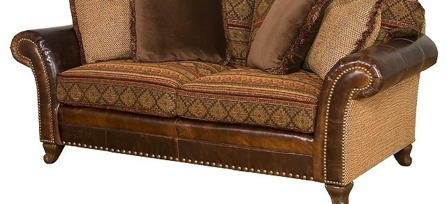 Leather And Cloth Sofas With Regard To Latest New Fabric And Leather Sofa  37 For Your