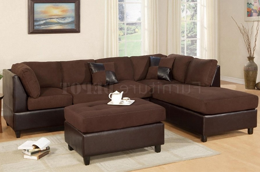 Leather And Suede Sectional Sofas Within Preferred Sectional Sofa Design: Suede Sectional Sofas Best Ever Suede (View 8 of 10)