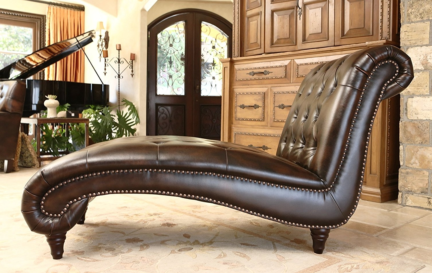 Leather Chaise Lounge Sofa – Home Design Ideas And Pictures Pertaining To Well Liked Emily Chaises (View 11 of 15)