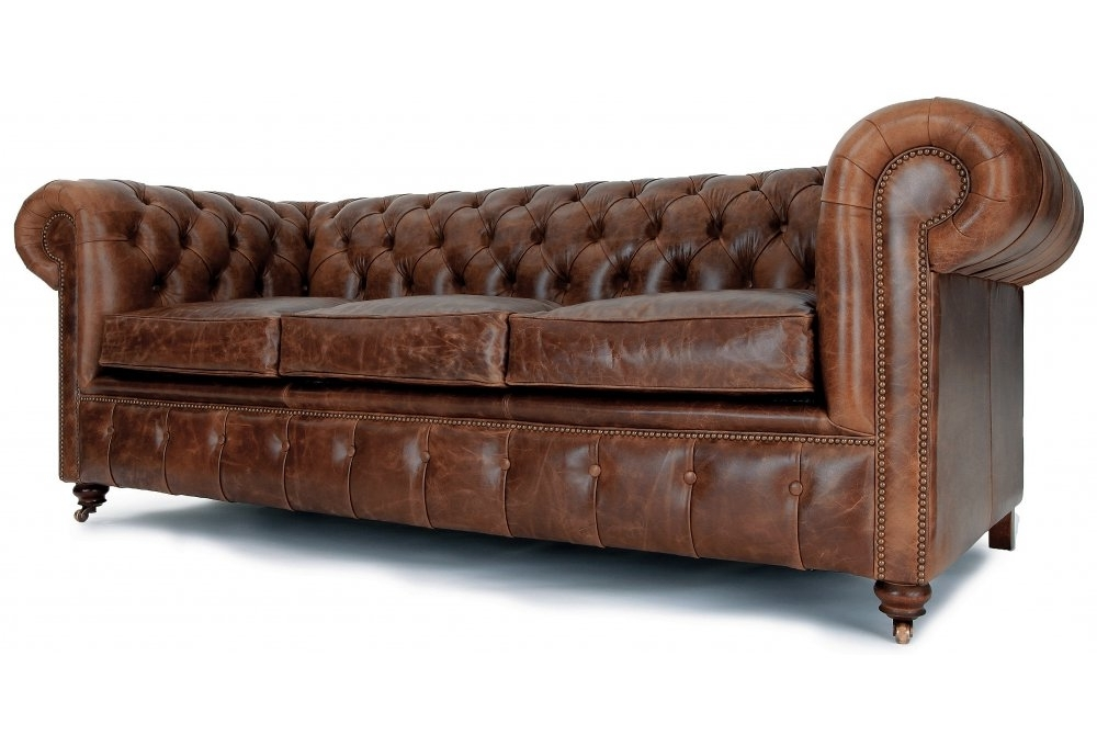Leather Chesterfield Sofas With Regard To Recent Perfect Brown Leather Chesterfield Sofa Best Images About (View 4 of 10)