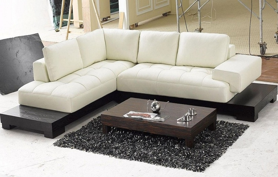 Leather Contemporary Sectional Sofas — Capricornradio With Well Known Modern Sectional Sofas For Small Spaces (View 2 of 10)