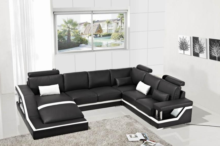 Leather Corner Sofas Intended For 2017 Leather Corner Sofas With Genuine Leather Sectional Sofa Modern (View 2 of 10)