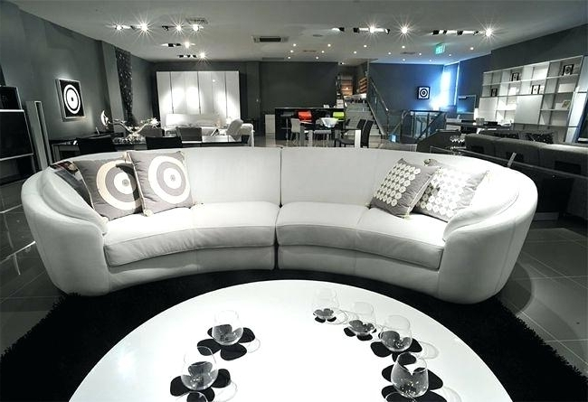 Leather Lounge Sofas In Well Known Lyns Furniture Leather White Curved Lounge Sofa Furniture New Home (View 4 of 10)