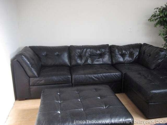 Leather Sectional Sofas With Ottoman Regarding Widely Used Soft Leather Couches Faux Leather Couch Gorgeous Leather Sectional (View 8 of 10)