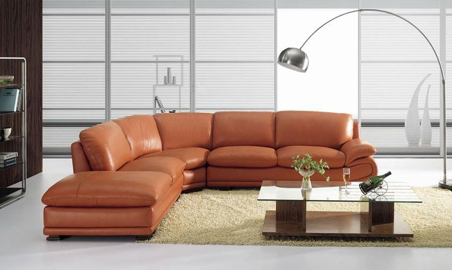 Leather Sectionals Intended For Camel Sectional Sofas (View 3 of 10)