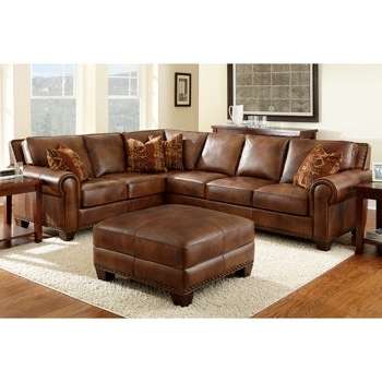Leather Sectionals With Ottoman Inside Well Known Costco Helena Leather Sectional And Ottoman (View 6 of 10)