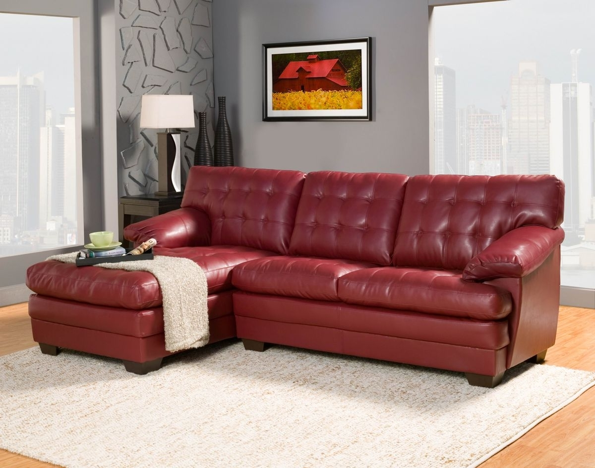 Leather Sofa Chaises Within 2017 Beautiful Red Leather Sectional Sofa With Chaise Photos (View 3 of 15)