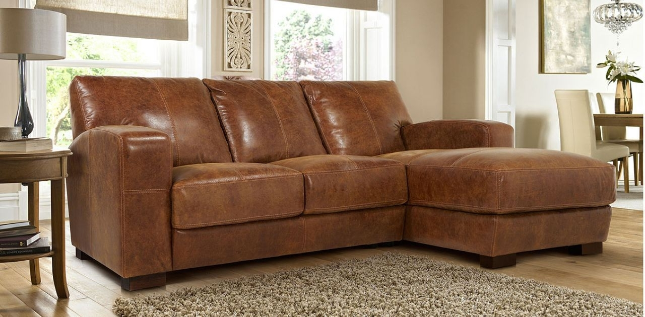 Leather Sofas With Chaise In Famous 3 Seater Leather Sofa With Chaise (View 13 of 15)