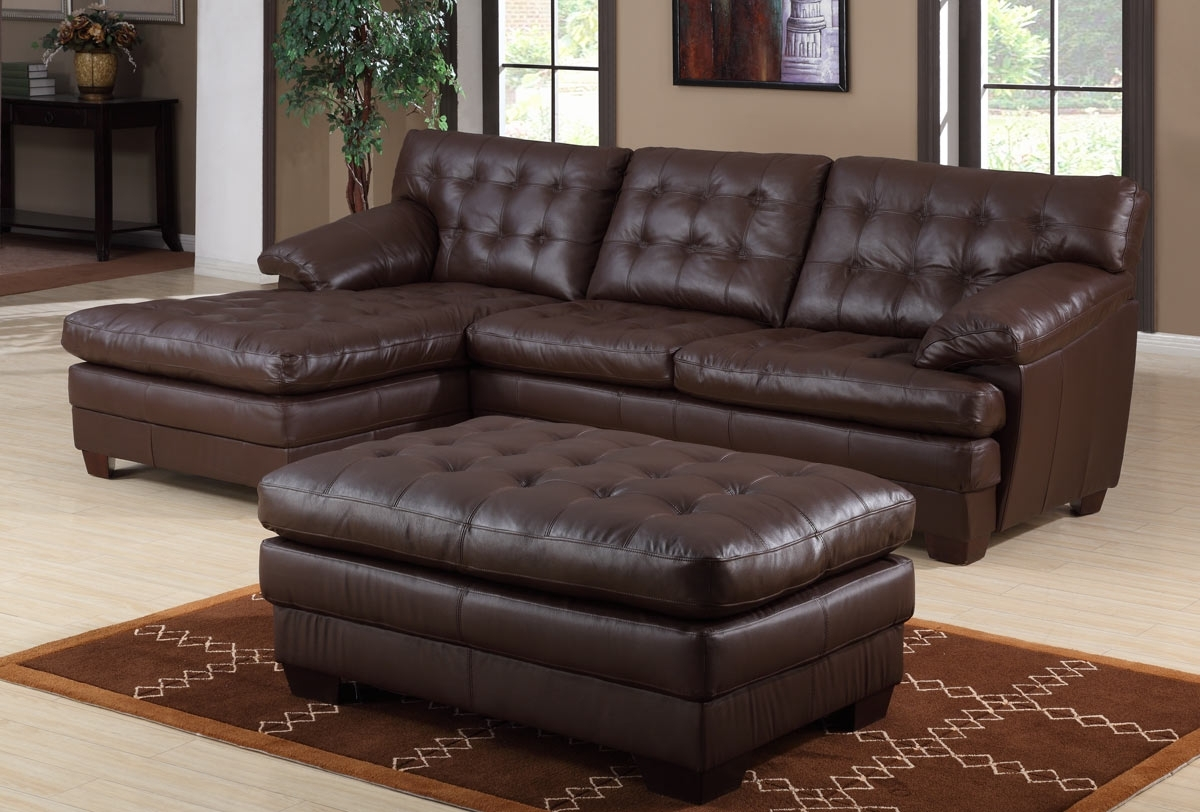 Leather Sofas With Chaise Intended For Popular Dark Brown Sectional Sofa Chaise (View 7 of 15)