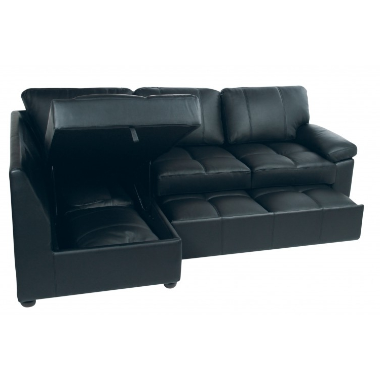 Leather Sofas With Storage With Regard To Famous Stunning Leather Sofa Bed With Storage Sofa Sofa Bed Storage Sofas (View 2 of 10)