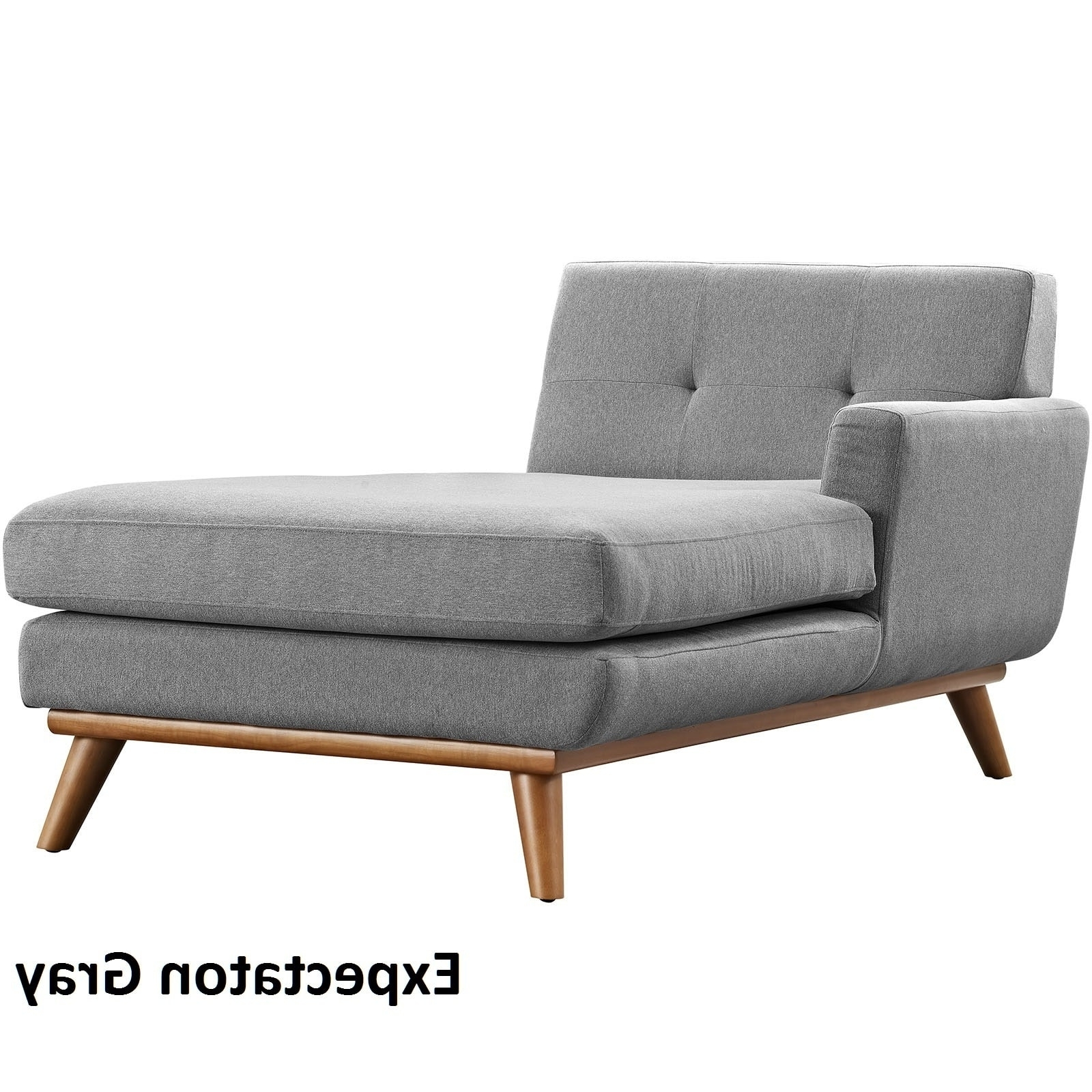 Left Arm Chaise Lounges For 2017 Engage Left Arm Mid Century Chaise Lounge – Free Shipping Today (View 11 of 15)