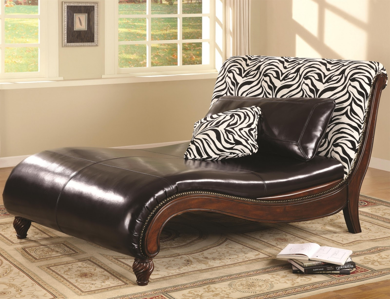 Living Room Beautiful Chaise Lounge Chairs For With Gallery Animal Throughout Most Current Zebra Print Chaise Lounge Chairs (View 2 of 15)