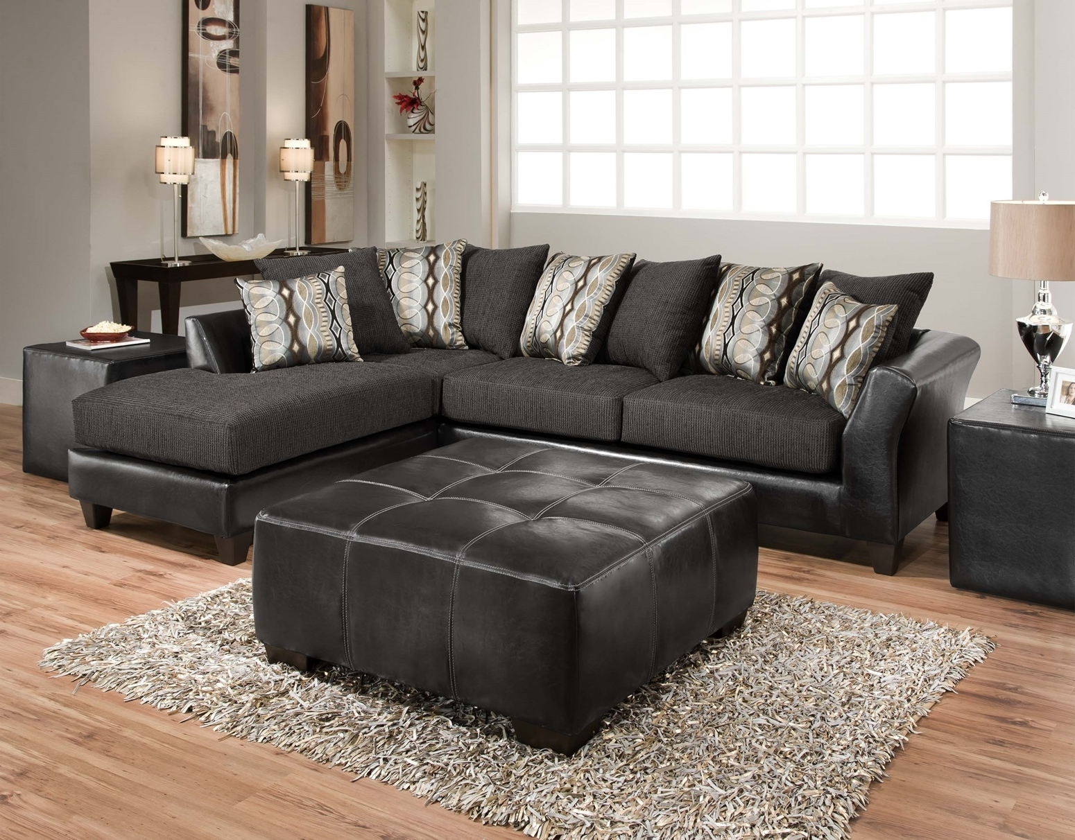 Living Room: Simple Sectional With Chaise For Small Space Living In Most Up To Date Charcoal Sectionals With Chaise (View 11 of 15)