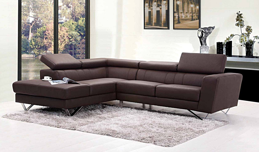 Liza Leather L Shaped Sectional Sofa (View 5 of 10)