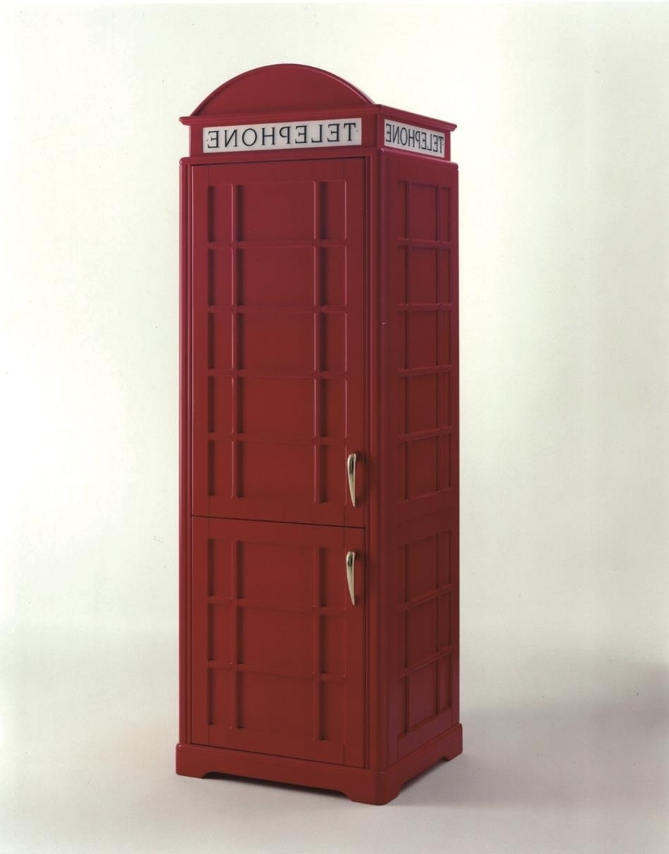 London Phone Box Fridge – Kitchen Furniture – Kitchenware – Furniture Throughout Well Known Telephone Box Wardrobes (View 6 of 15)