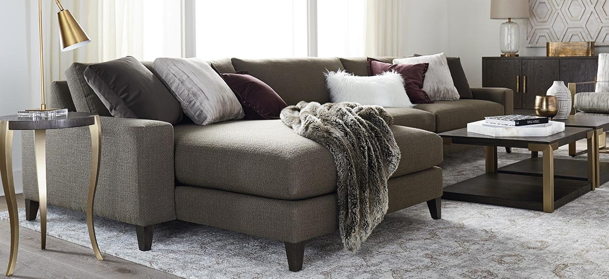 Long Chaise Sofas For Most Current Fabric Sectionals (View 7 of 10)
