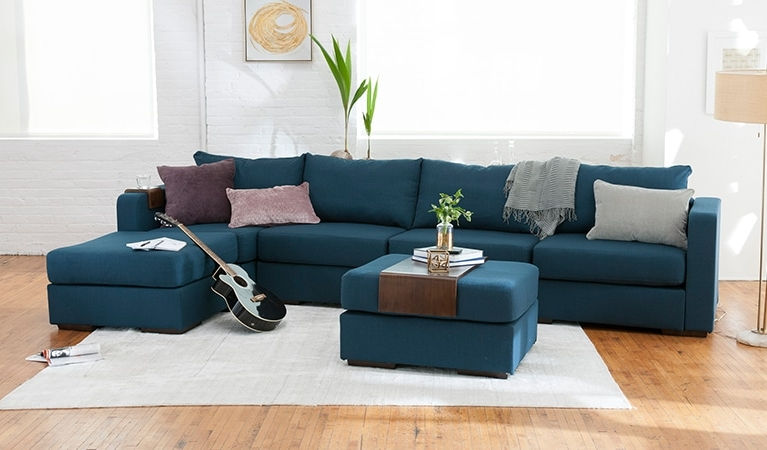 Long Sectional Sofas With Chaise Regarding 2018 Large Chaise Sectional Sofa  Lovesac Modern Long Sofas Ideas