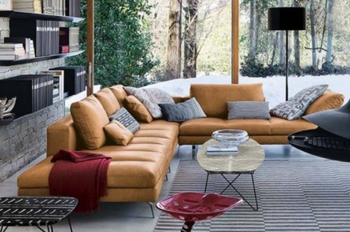Looking For A Long Sectional Or Sofa In A Tan/cognac/camel Leather Inside Widely Used Camel Sectional Sofas (View 8 of 10)
