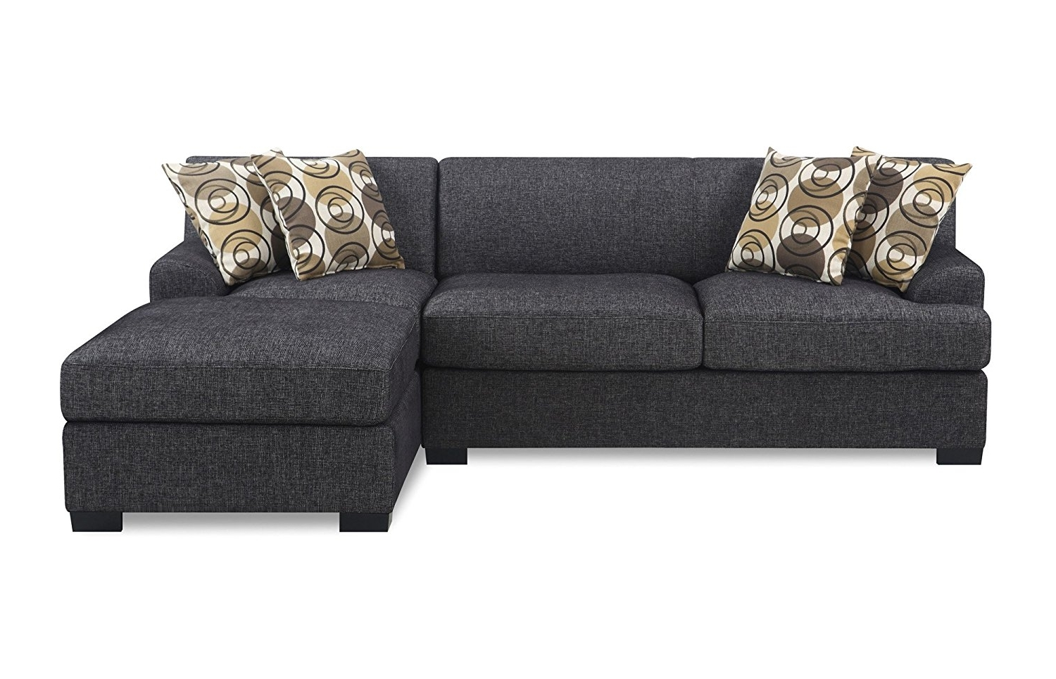 Loveseats With Chaise Throughout Most Current Amazon: Bobkona Benford 2 Piece Chaise Loveseat Sectional Sofa (View 7 of 15)