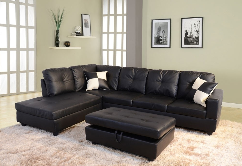 Featured Photo of Faux Leather Sectional Sofas