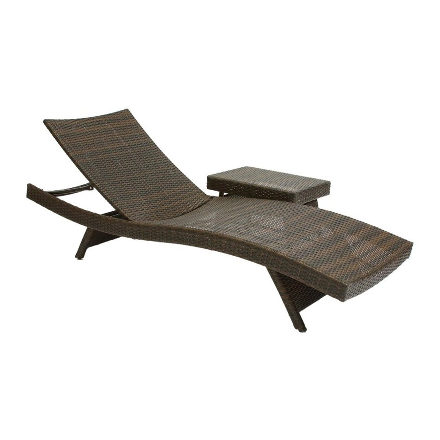 Lowes Chaise Lounges Throughout Most Recently Released Shop Best Selling Home Decor Multi Brown Stackable Folding Patio (View 12 of 15)