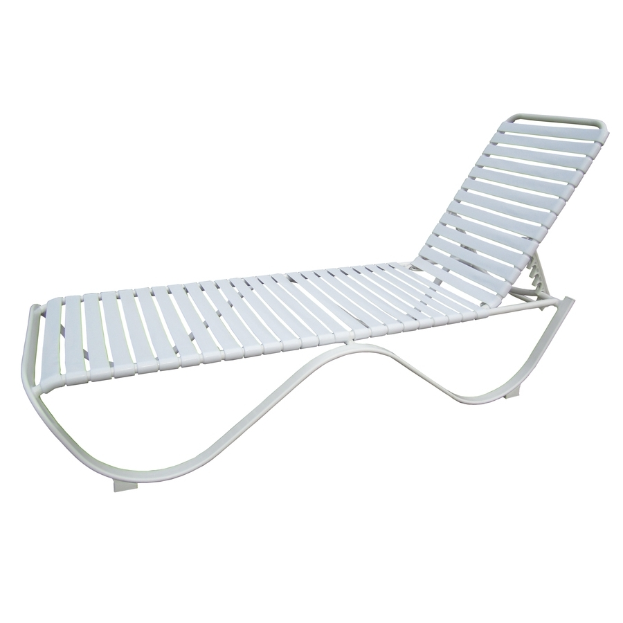 Lowes Outdoor Chaise Lounges With Regard To Popular Shop Garden Treasures Pagosa Springs White Aluminum Stackable (View 7 of 15)