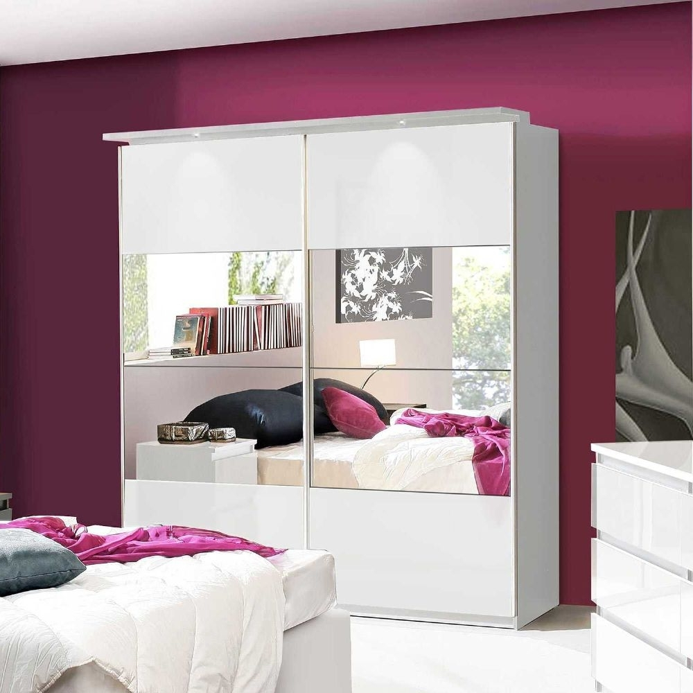 Lucia White Gloss Sliding Door Wardrobe Chls824E1C87 Intended For Most Recently Released High Gloss Wardrobes (View 12 of 15)